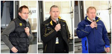 Réunis à Sion, Laurent Burgat, Jean-Pascal Dauce et Pascal Couasnon, annoncent la création du Clio R3T Alps Trophy 2015